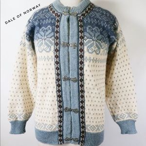 Dale of Norway Luxury Ski Wool Cardigan Sweater 40